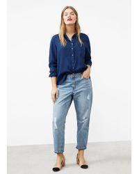 Violeta by Mango | Blue Medium Denim Shirt | Lyst