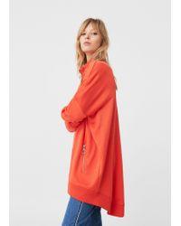 Mango | Red Oversize Sweatshirt | Lyst