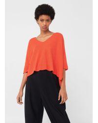 Mango | Orange V-neckline Sweater | Lyst