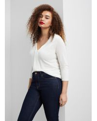 Violeta by Mango | White Flowy Textured Blouse | Lyst