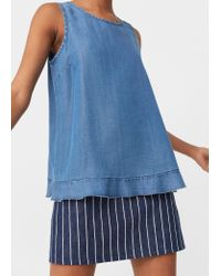 Mango | Blue Soft Fabric Top | Lyst