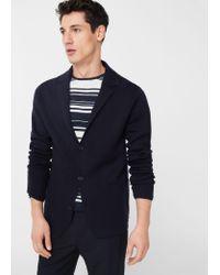 Mango   Blue Pocket Wool-blend Cardigan for Men   Lyst