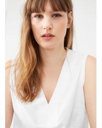 Violeta by Mango | White Flecked Cotton-blend Top | Lyst
