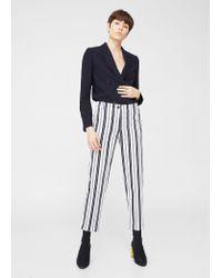 Mango | Blue Straight Cotton Trousers | Lyst