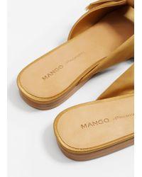 Mango - Multicolor Bow Satin Sandals - Lyst