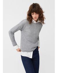 Mango | Gray Metal Thread Sweater | Lyst