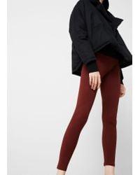 Mango | Red Essential Cotton Leggings | Lyst