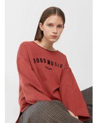 Mango | Multicolor Message Cotton Sweatshirt | Lyst