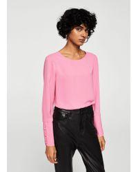 Mango - Pink Blouse - Lyst