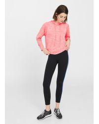 Mango - Pink Flecked Message Sweatshirt - Lyst