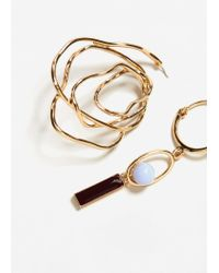 Mango - Metallic Earrings - Lyst