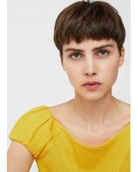Mango - Yellow T-shirt - Lyst