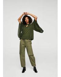 Mango - Green Shirt - Lyst