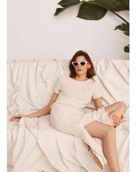 Mango White Cat-eye Sunglasses
