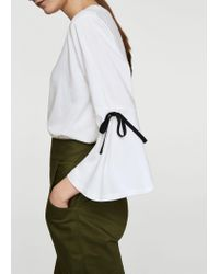 Mango - White T-shirt - Lyst