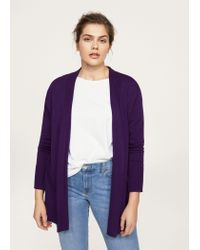 Violeta by Mango - Purple Cardigan - Lyst