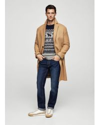 Mango Blue Fair Isle Wool Sweater
