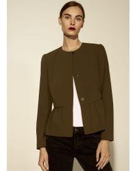 Mango - Green Jacket - Lyst