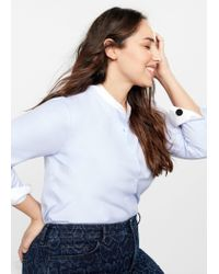 Violeta by Mango Blue Slim-fit Snake Print Jeans