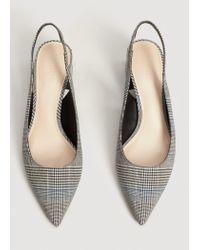 Mango Black Slingback Check Shoes