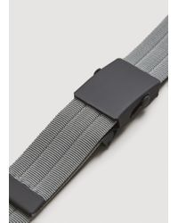 Mango - Gray Metal Buckle Belt for Men - Lyst