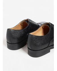 Mango - Black Leather Blucher Shoes for Men - Lyst