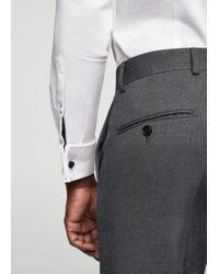 Mango | Gray Slim-fit Patterned Suit Trousers for Men | Lyst
