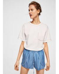 Mango Blue Soft Fabric Shorts