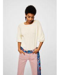 Mango - Multicolor Ramie-blend T-shirt - Lyst