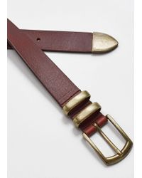 Mango - Brown Belt M-- for Men - Lyst