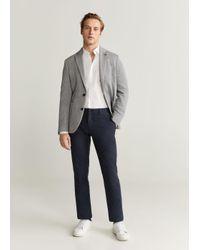 Mango Katoenen Slim-fit Overhemd in het White voor heren