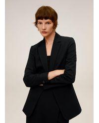 Mango Suit Blazer Black