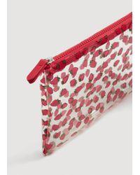 Mango - Red Printed Vinyl Cosmetic Bag - Lyst