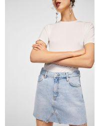 Mango - Blue Skirt - Lyst