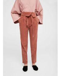 Mango - Multicolor Trousers - Lyst