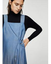 Mango - Blue Ring Wrap Jumpsuit - Lyst