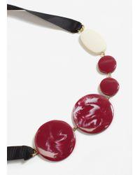 Mango - Red Bead Necklace - Lyst