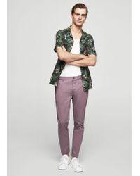 Mango - Purple 5-pocket Cotton Trousers - Lyst