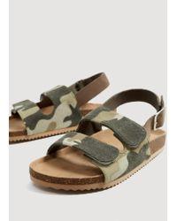 Mango Green Unisex Camouflage Sandal for men