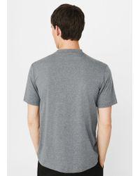 Mango Gray Essential Cotton T-shirt for men