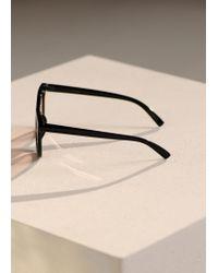 Mango - Black Frame Sunglasses - Lyst