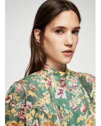 Mango Multicolor Floral Print Blouse