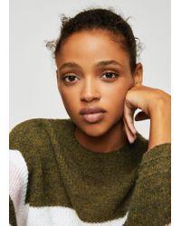 Mango Green Striped Mohair-blend Sweater