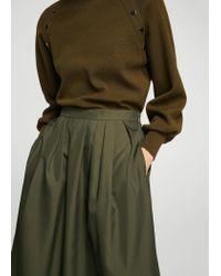 Mango Green Pleated Skirt