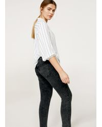 Violeta by Mango - Gray Super Slim-fit Andrea Jeans - Lyst