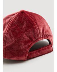 Mango Red Velvet Cap