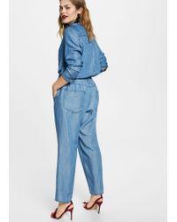 Violeta by Mango - Blue Soft Baggy Trousers - Lyst
