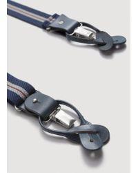 Mango - Blue Adjustable Elastic Braces for Men - Lyst