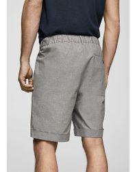 Mango - Gray Chino Bermuda Shorts for Men - Lyst