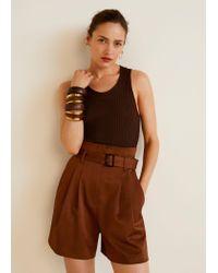 Mango - Brown Pack Wooden Bracelets - Lyst